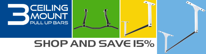 Save 15% on 3 Ceiling Mount Pull Up Bar