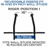 Wall Mount Pull Up Bar with Reversible Risers