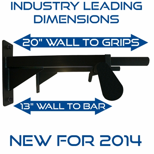 Ultimate Wall Mounted Home Pull Up Bar With 3 Grip Positions