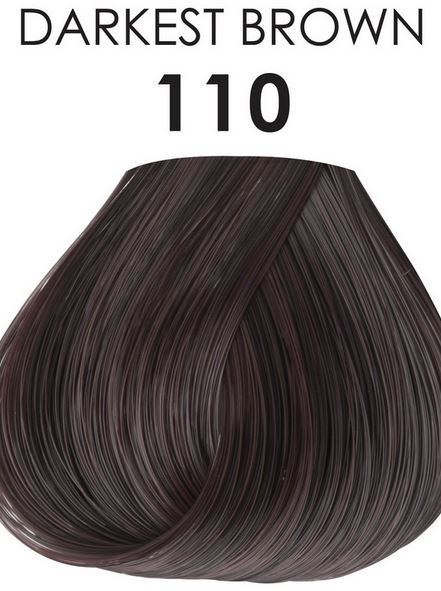 Adore Semi Permanent Hair Color 110 Darkest Brown 4 Oz