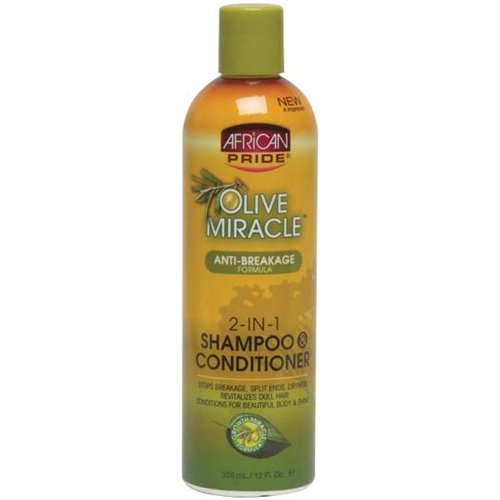 African pride olive miracle 2 in 1 shampoo amp conditioner 12 oz