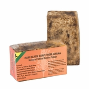 GHANA RAW BLACK SOAP With Natural Shea Butter