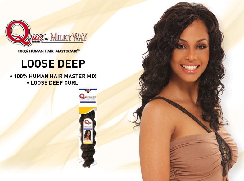Crochet Braids With Milky Way Que : Milky Way Human Hair Blend Que Loose Deep Weaving Milky LONG ...