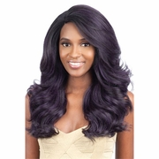 Model Model Synthetic Hair Lace Deep Invisible L Part Lace Front Wig - Blue Meadow