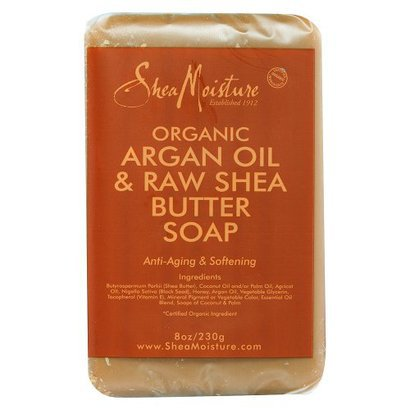Shea Moisture Organic Argan Oil & Raw Shea Butter Soap 8 oz
