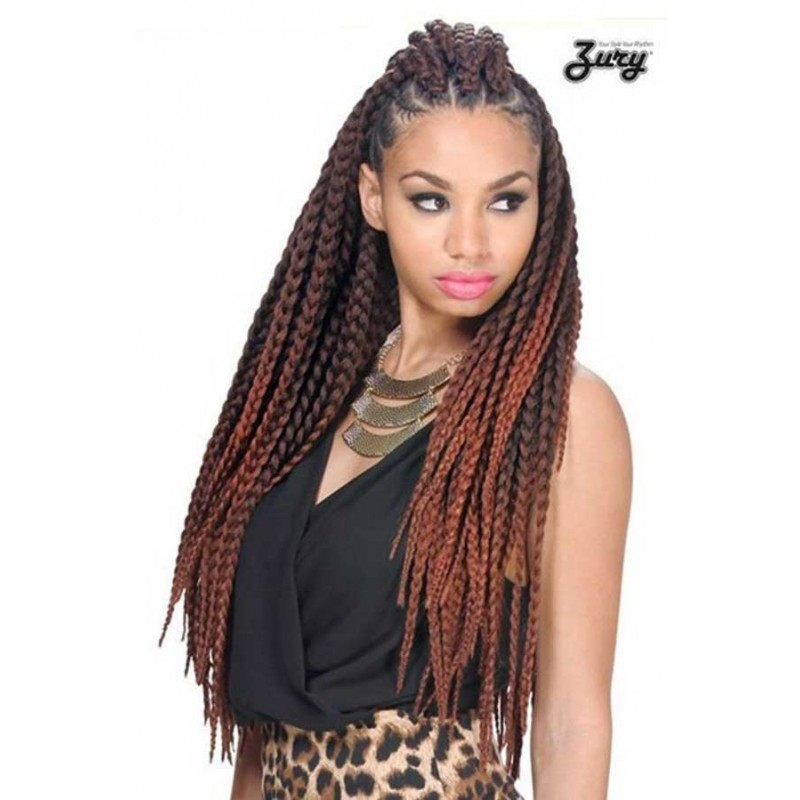 Crochet Micro Box Braids : Zury BOX BIG BRAIDS 24 INCH -Synthetic Crochet Braid