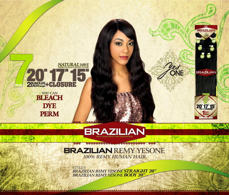 Zury Yes One Brazilian Human Remy Hair 110