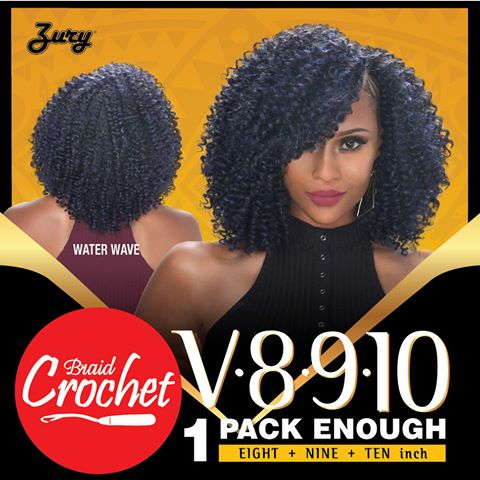 Zury Crochet Braids : Synthetic Hair- Braiding Bulk Zury WATER WAVE Synthetic Crochet Braid ...
