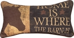 Home is where the barn is pillow