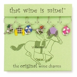 Off to the Races Wine Charms