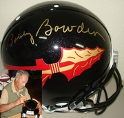Bobby Bowden Hand Signed/Autographed Florida State Seminoles Full Size Authentic Black Football Helmet