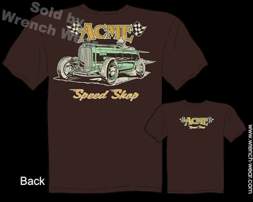 1932 Ford Tshirt ACME Speed Shop Tee 32 Roadster Hot Rod Wear