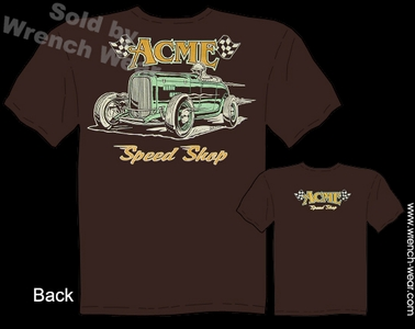 1932 Ford Tshirt ACME Speed Shop Tee Hot Rod Wear 32 Roadster