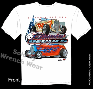 1932 Hot Rod Shirt 32 Roadster Ford Tee Flamin' Deuces Street Rod T Shirts