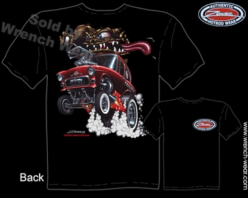 1955 Chevrolet Shirts 55 Chevy Tee Hot Rod Apparel  Monster Rod Racing T Shirts