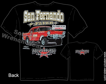 1957 Chevy Racing T Shirts Solo Speed Shop 57 Gasser Vintage Drag Racing Tee