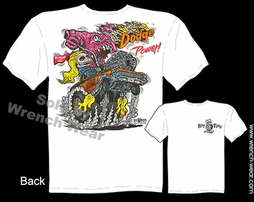 Big Daddy Clothing Rat Fink T Shirts Dodge Power Dodge Tshirt Ed Roth Tee