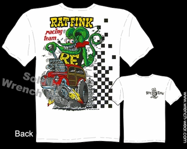 Big Daddy T Shirt Rat Fink Racing Team 1940 Ford Woody Ed Roth Apparel