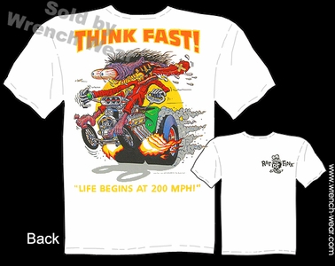 Big Daddy T Shirt Think Fast Ed Roth Clothing Rat Fink Tee Shirts