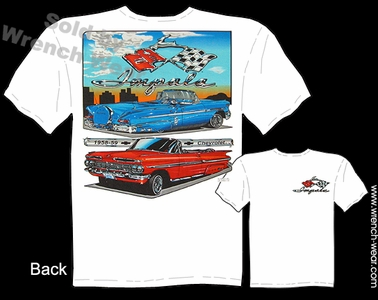 Chevrolet Shirt 58 59 Chevy Impala T Shirts 1958 1959 Convertible Custom Car Tee