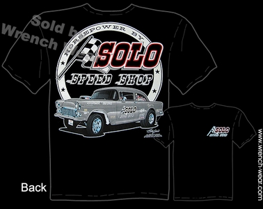 Chevrolet Tee Shirts 55 Gasser Racing 1955 Chevy Solo Speed Shop T Shirts