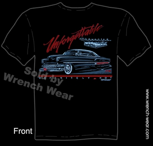 Chevy Shirt 1954 Custom Car T Shirts 54 Chevrolet Unforgettable Lead Sled Tee