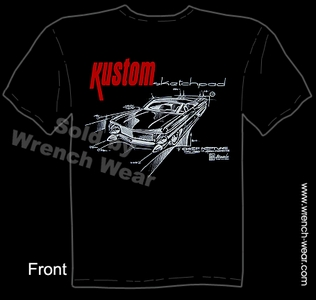 Custom Car T Shirt Kustom Sketchpad Chief Pontiac Clothing