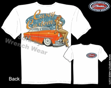 Custom Car Tee 53 Chevrolet T Shirt 1953 Chevy Apparel Pin Up Wear