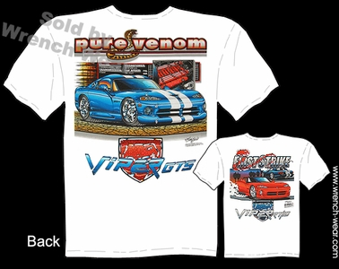Dodge Viper T Shirt RT/10 Mopar Apparel GTS Tee First Strike Pure Venom