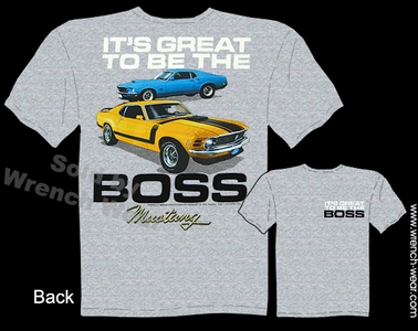 Ford Mustang T Shirts 69 70 Great To Be The Boss 1969 1970 Tee