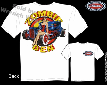 Ford T Shirt 1930 1931 Hot Rod Shirt 30 31 Coupe Zombie Den Pin Up Tshirts