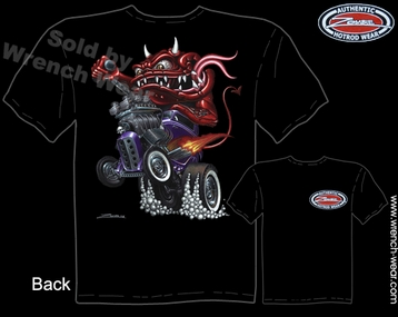 Ford T Shirts 1932 Hot Rod Clothing 32 Coupe Monster Rod Racing Tee