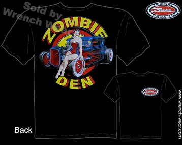 Hot Rod Apparel 30 31 Ford Shirts 1930 1931 Coupe Zombie Den Pin Up T Shirt