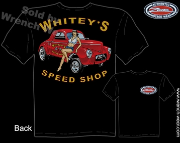 Hot Rod Shirts 41 Willys Gasser T Shirts 1941 Whitey's Speed Shop Apparel