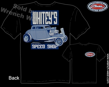 Hot Rod T Shirt 1933 1934 Coupe 33 34 Racing Shirts Whitey's Speed Shop Tee