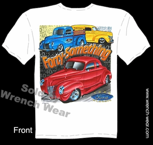 Hot Rod T Shirts 40 Ford Shirt 1940 Vintage Car Tee Forty Something