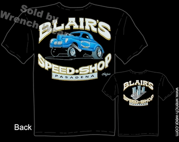 Hot Rod Tee 40 Willys Blair's Speed Shop T Shirts 1940 Vintage Drag Racing Shirt