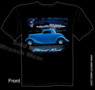 Hot Rod Tshirt 1933 1934 Ford Tee 33 34 Coupe Classic Street Rod Shirts