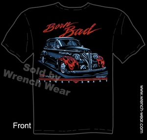 Hot Rod Wear 1939 Chevrolet T Shirt 39 Chevy Tee Born Bad Vintage Car Shirt