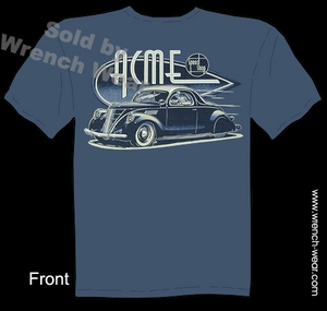 Hot Rods T Shirts 1937 ACME Speed Shop 37 Lincoln Zephyr Street Rod Tee