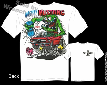 Mighty Mustang Shirt 64 65 66 Rat Fink T Shirt Big Daddy Clothing Ed Roth Tee