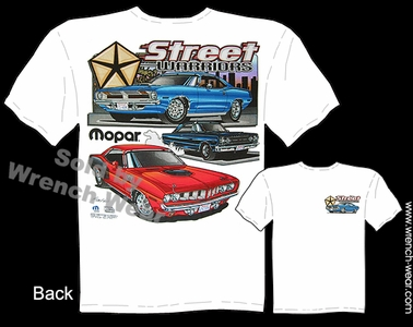 Mopar T Shirt 70 71 72 73 Cuda Tee 426 Hemi Plymouth Clothes Street Warriors