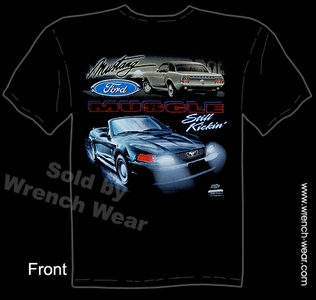 Mustang Clothes Ford Tshirt Still Kickin' Convertible Muscle Car Tees
