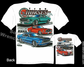 Mustang GT Shirts 65 66 67 68 69 70 Ford T Shirts GT350 GT500 Muscle Car Tee