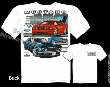 Mustang GT T Shirt 67 68 69 Ford Tee Shirts 1967 1968 1969 Evolution