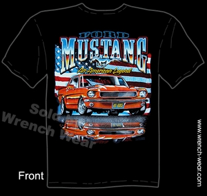 Mustang Tee 64 65 66 Ford T Shirt 1964 1965 1966 American Legend