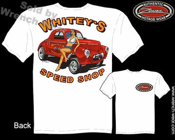 Racing T Shirts 41 Willys Gasser Shirt Speed Shop 1941 Hot Rod Pinup Tee