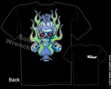 Racing T Shirts Cycle Skull Kustom Kulture Apparel Speed Shirt