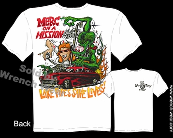 Rat Fink Shirt Merc On A Mission Big Daddy Tee 49 50 51 Mercury Ed Roth Clothing