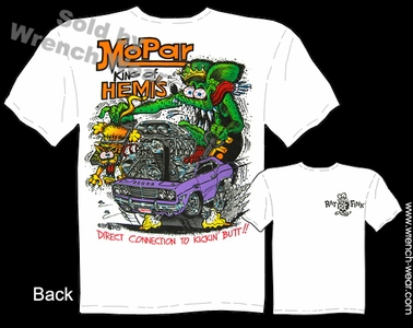 Rat Fink T-shirt Big Daddy Clothing Mopar King Of HEMI'S Dodge T Shirt